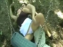 Crazy Man Fucks A Girl Outdoor