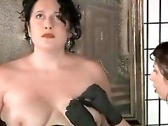 Lesbian Needle Breast Play