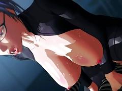 3d Hentai Teacher Masturbating Squirting & Fucked In Class