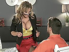 Hot Bigboob Brunette Milf Lawyer Nikki Sexx Fucks Inmate Client