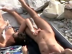 Nude Beach Great Tease Blow & Handjob