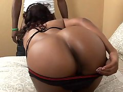 Black Girl Takes Huge Cock In Her Black Cunt Then Gets Her Pussy Creamed