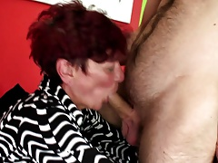 Old Granny Still Loves Big Young Cocks