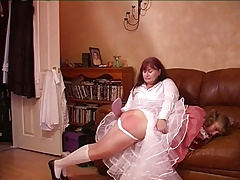 Spanked On The Seat Of Her Pants And Then Dress