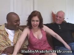 Horny Redheaded Wife Takes Black