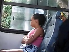 Flashing Teen In Bus