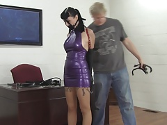 Secretary Trained In Latex And Leather