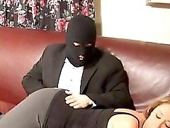 Robber Spanks And Finger Fucks Mature Lady