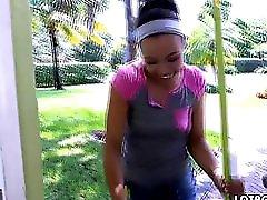 Ebony Big Ass Maid Adrian Maya Gets Fucked