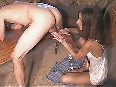 Real ghetto housewife slut fuck a interracial dude